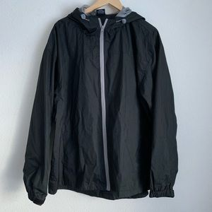 Ace USA Men's black zip up windbreaker